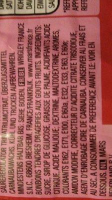 Skittles - Ingrediënten - fr
