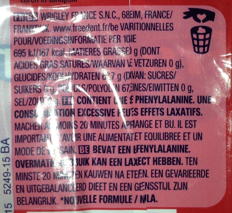 Freedent fraise - Ingredienti - fr
