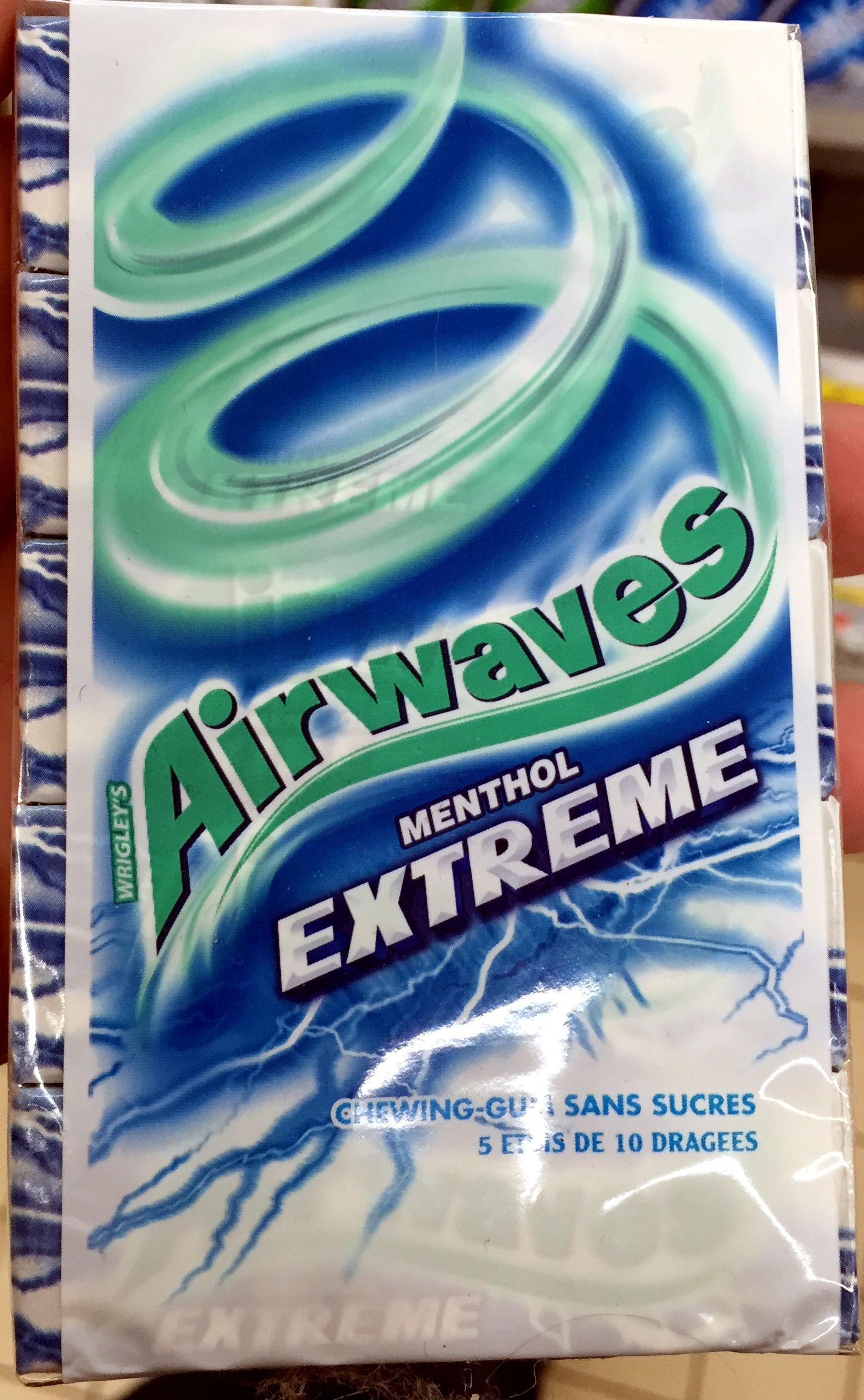 Air Waves Menthol Extreme - Wrigley's - 5 * 14 g (70 g)