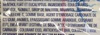 Airwaves extreme menthol - Ingrediënten - fr