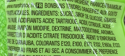 Crazy Sours Bonbons tendres dragéifiés - Ingredienti - fr