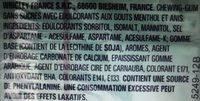 Airwaves Black Menthol - Ingrediënten - fr