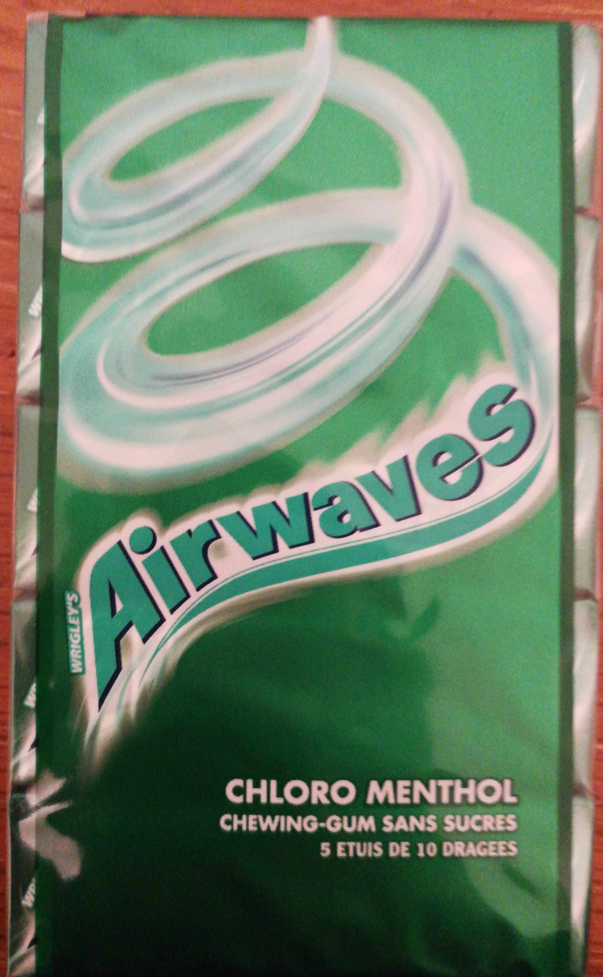 Chewing-gum sans sucres aux goûts menthol et menthe - Product