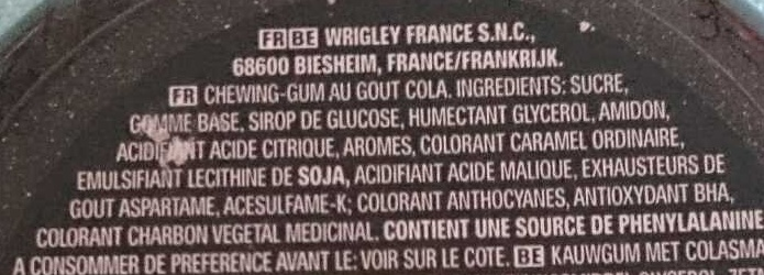 Hubba Bubba goût Cola - Inhaltsstoffe - fr