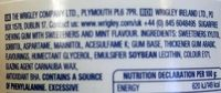 Wrigley's Extra Peppermint - Ingredients