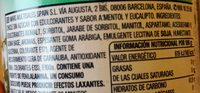 Chicles sabor eucalipto - Ingredients - fr