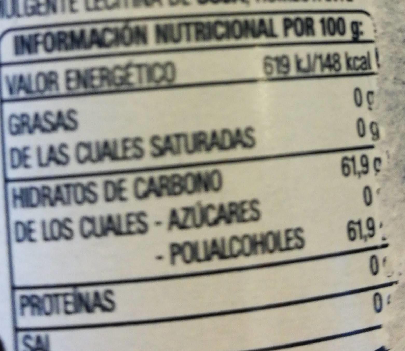 Chicles sabor eucalipto - Voedingswaarden - fr