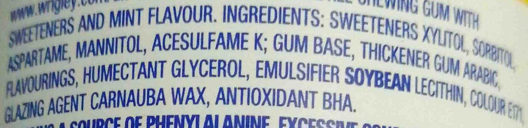 Extra peppermint - Ingrédients - en