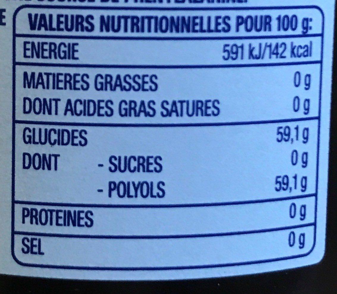 Chewing Gum sans Sucre - Voedingswaarden