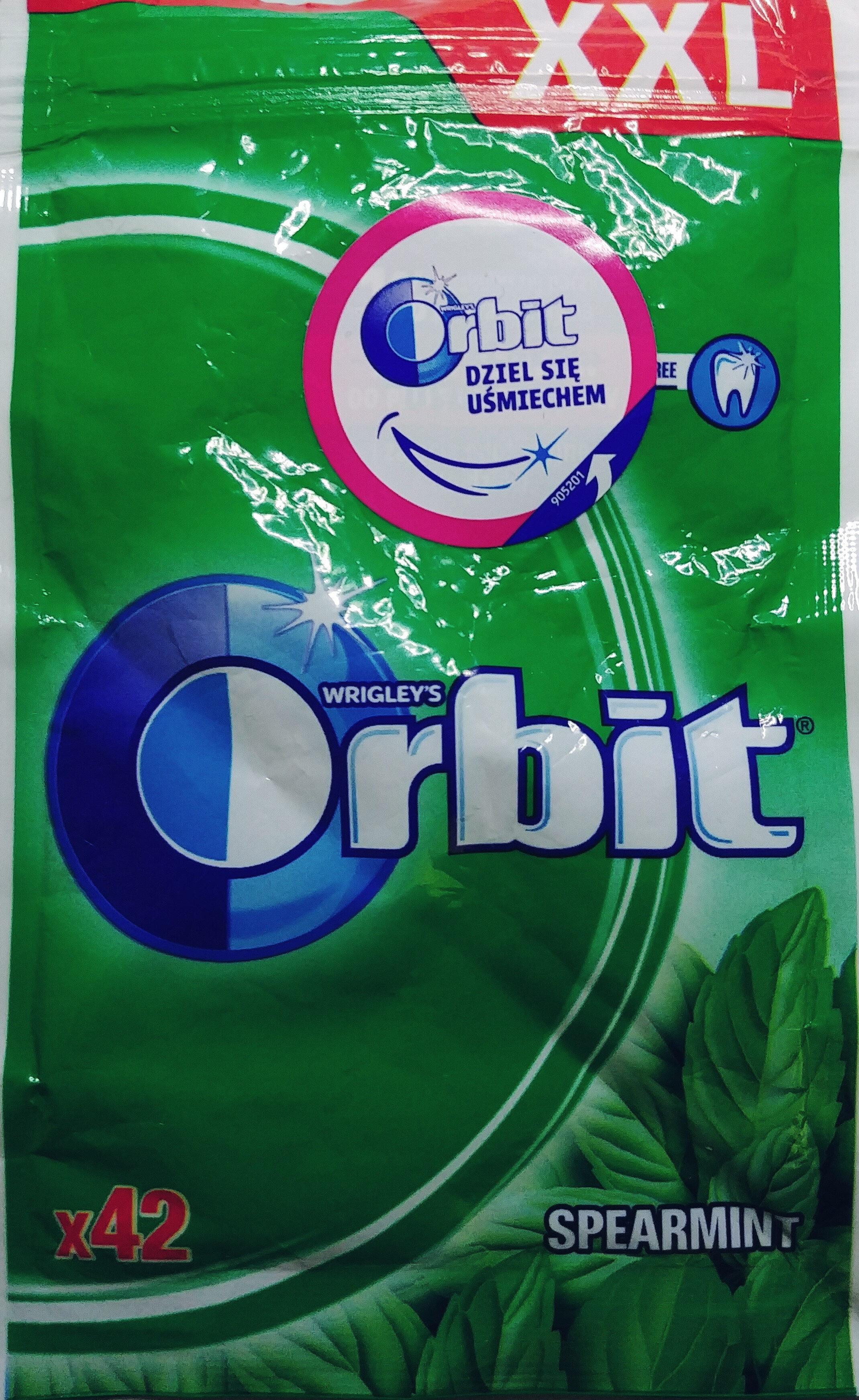 Orbit Spearmint XXL Sugarfree Chewing Gum 58 G (42 Pieces) - Produkt - pl
