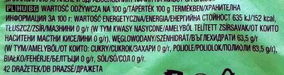 Orbit Spearmint XXL Sugarfree Chewing Gum 58 G (42 Pieces) - Wartości odżywcze - pl