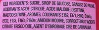 Skittles fruits - Ingrédients - fr