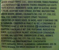 Skittles crazy sours - Ingrediënten - fr