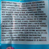 Skittles goût Tropical - Ingrediënten