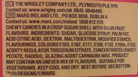 Skittles Tub Fruits And Sours Funsize - Ingrediënten