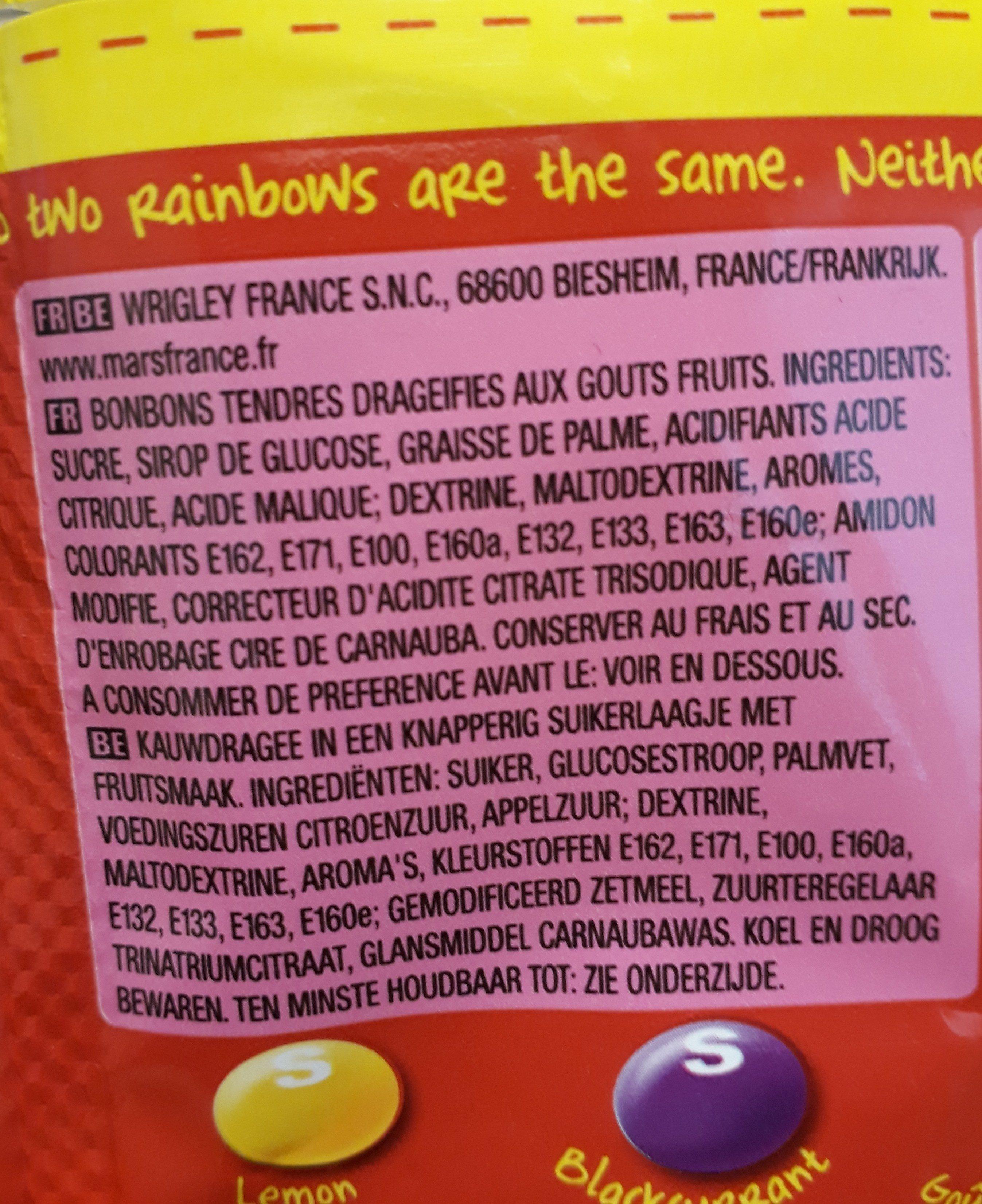 Skittles fruits - Ingrediënten