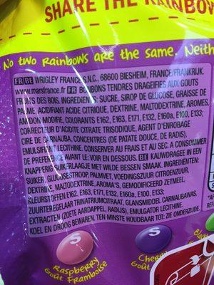 Skittles - Ingrediënten