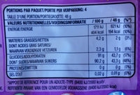 Skittles - Voedingswaarden