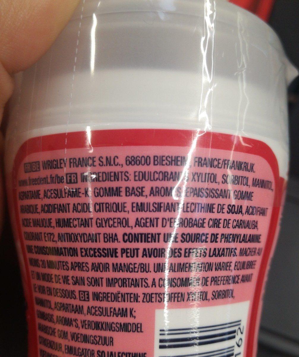 Chewing gum - Ingrediënten - fr