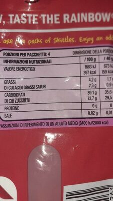 Fruchtige Kaubonbons (fruits) - Nährwertangaben - de