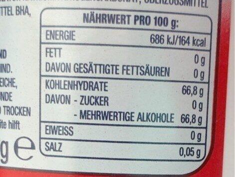 Orbit white strawberry - Nutrition facts - de