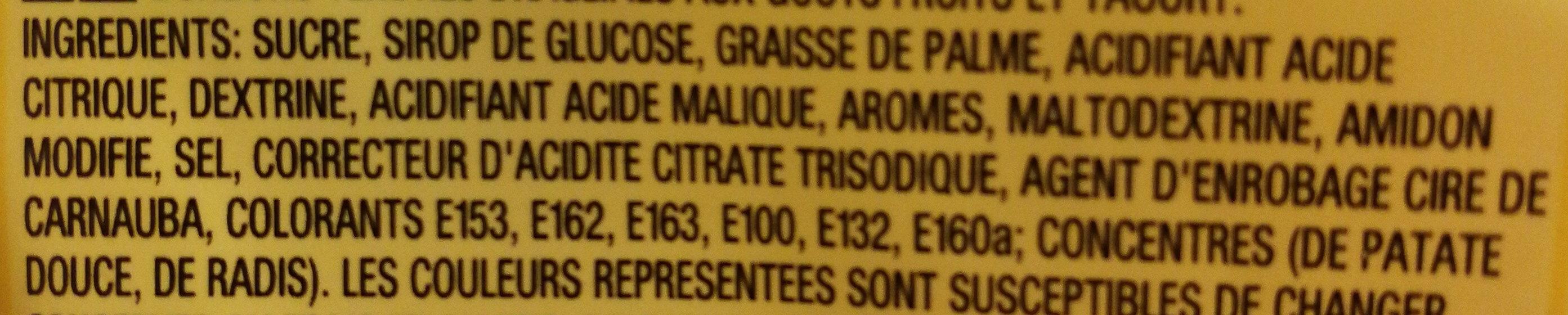 Skittles Smoothies - Ingredients - fr