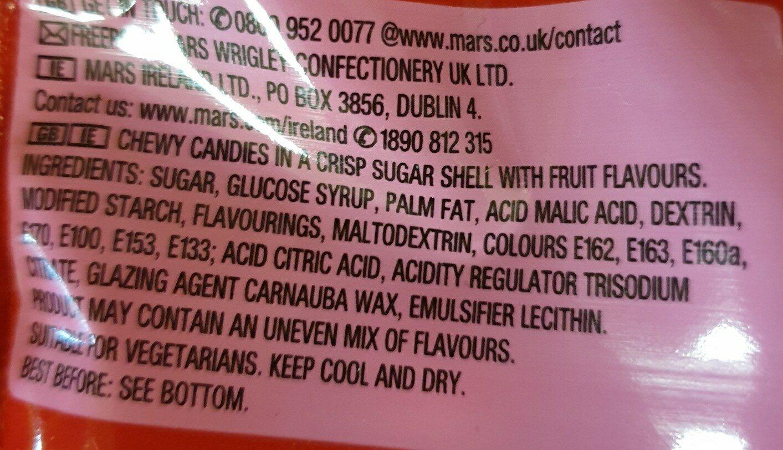 Skittles Giants - Ingredients - en