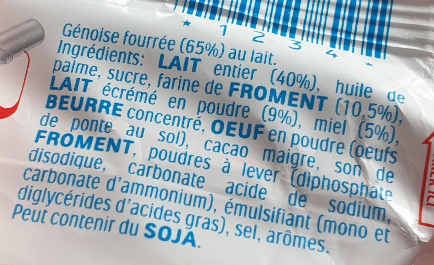 Tranche au lait - Ingredients