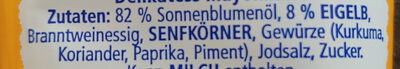 Mayonnaise - Ingredients - de