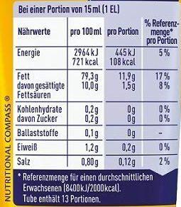 Mayonnaise - Nutrition facts - de