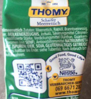 Meerrettich (Thomy) - Inhaltsstoffe