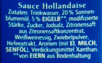 Hollandaise - Inhaltsstoffe