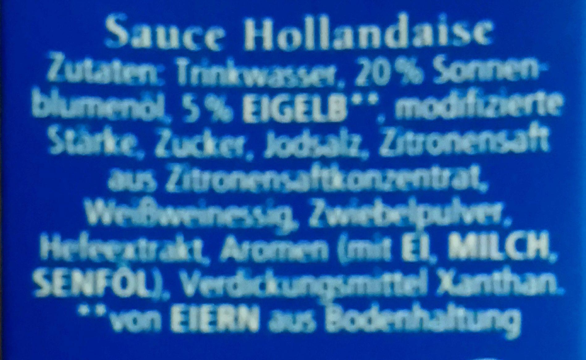 Hollandaise - Ingredients