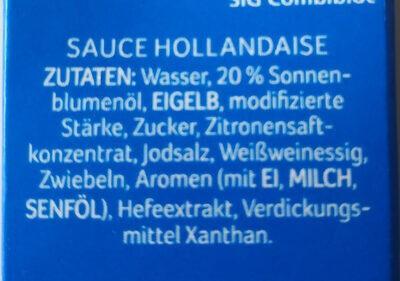 Sauce Hollondaise - Ingredienti - de