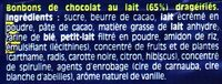 Smarties® x5 - Ingrédients - fr