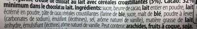 Lapin Kit Kat - Ingrédients - fr