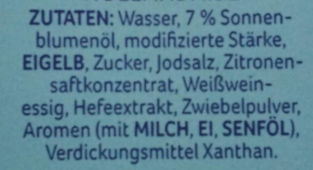 Les Sauces Hollandaise leicht - Ingredienti - de