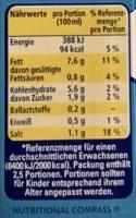 Thomy Hollandaise 8% Fett - Nutrition facts