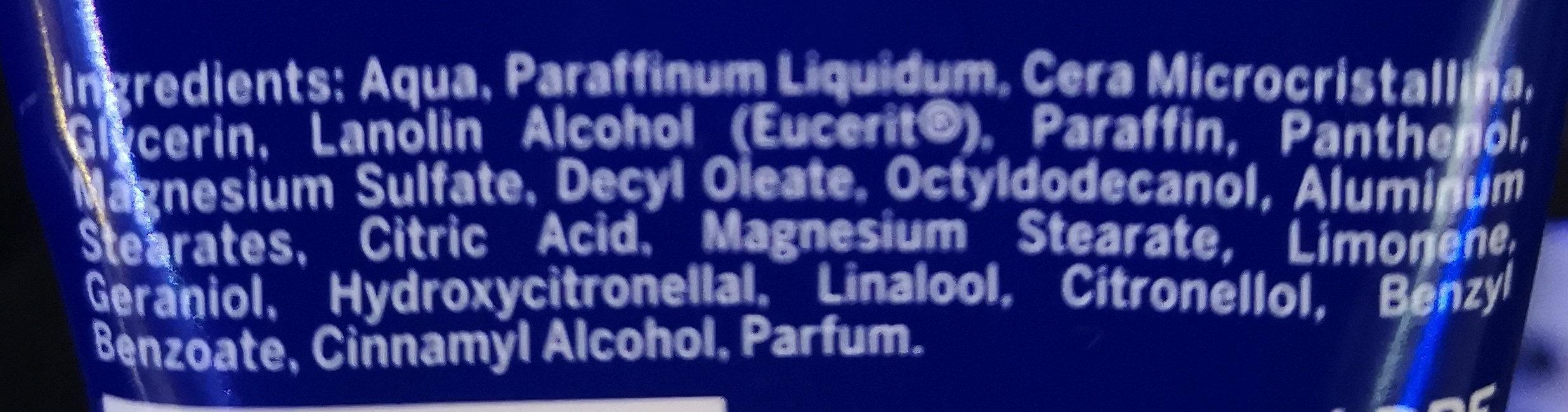 Crème - Ingrédients