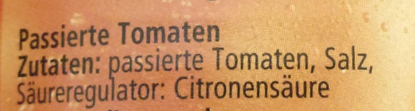 Tomaten - Passiert - Ingrédients - de