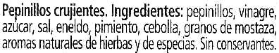 Pepinillos KNAX con aliño suave - Inhaltsstoffe - es
