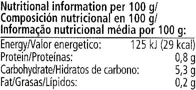 Knax crunchy gherkins - Voedingswaarden