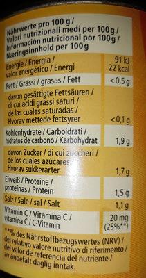 Crauti delicati al vino bianco - Nährwertangaben