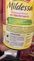 Sauerkraut mit Räucherspeck - Ingrediënten