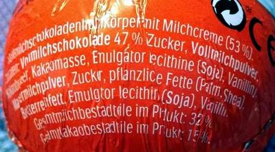 Kinder Überraschung - Ingredients
