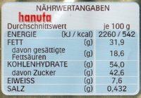 hanuta - Voedingswaarden - de