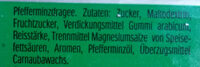 Tic Tac mint - Ingredienti - de