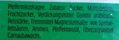 Tic Tac mint - Ingredients - de