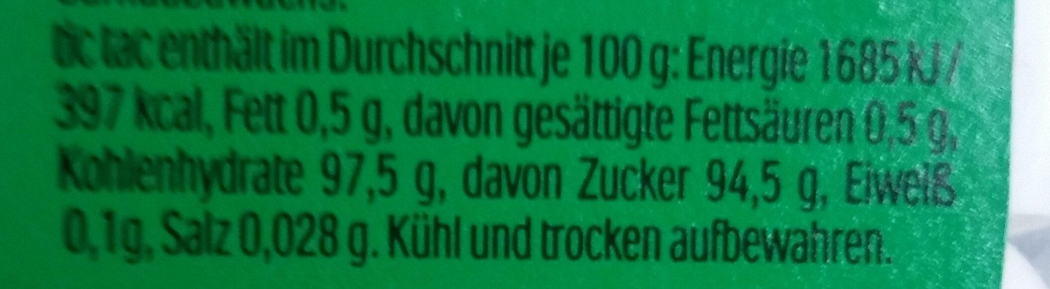 Tic Tac mint - Voedingswaarden - de