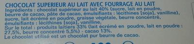 Kinder Chocolat - Ingredients